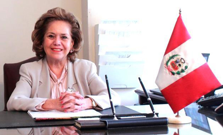 Ambassador María Teresa Merino Villarán de Hart, the Consul General of Peru in New York City