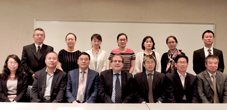 Guests from Tianjin University of Technology and Education with Dean Kenneth Gold, School of Education