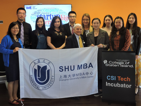 MBA Students from Shanghai University Visit CSI Tech Incubator