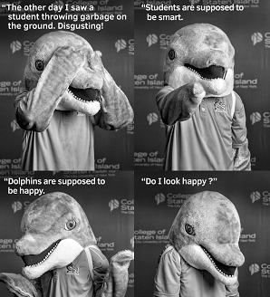 Some Trash Talk from Danny the Dolphin