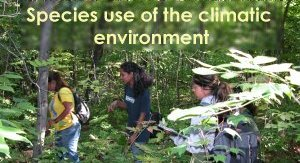 species use of the climatic environment