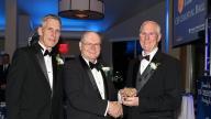 President Fritz honoring Dr. Kress