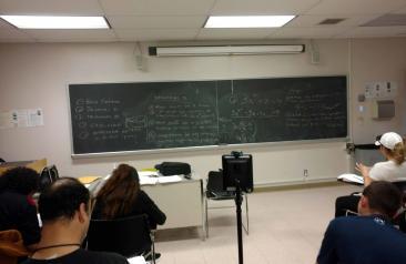 double robot in math class