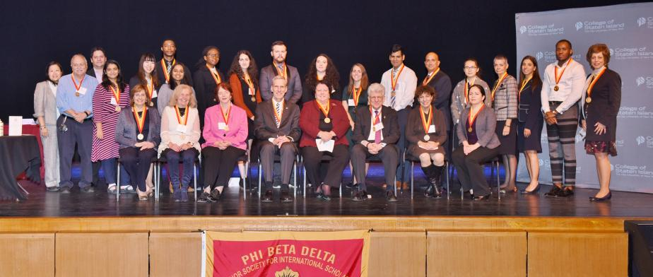Beta Delta Honor Society for International Scholars, 2017 Induction Ceremony