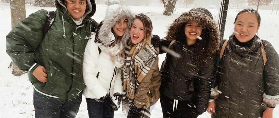 Snowy campus!