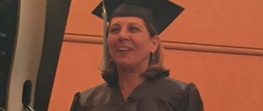 Barbara Verteramo giving graduation speech