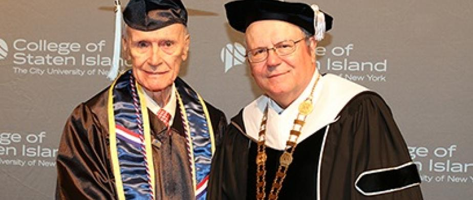 William Carey with President Fritz