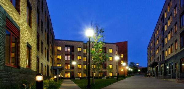 The College of Staten Island Dorms at Night