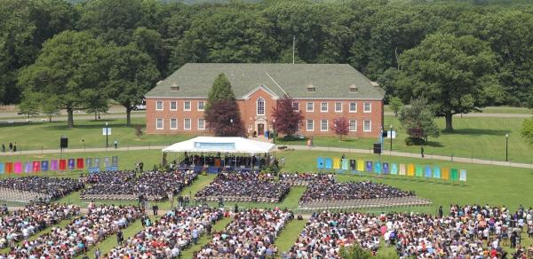 Middle States great lawn at CSI commencement