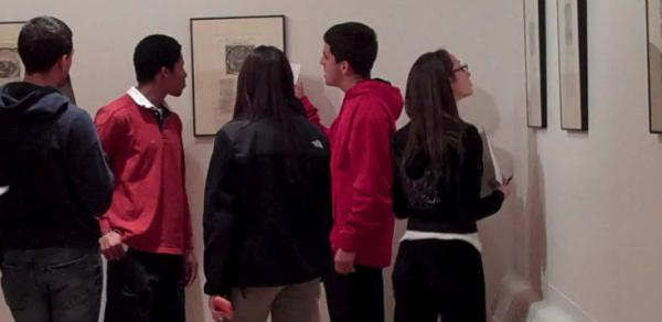 CSI Art History students at exhibit