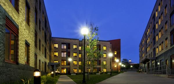 CSI Residency Halls At Night
