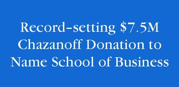 announcement of Chazanoff Donation