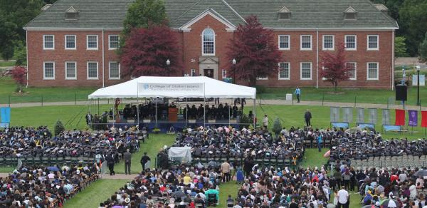 commencement in front of building 3A