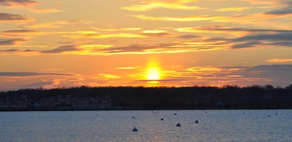 Sunset Over Great Kills Harbor
