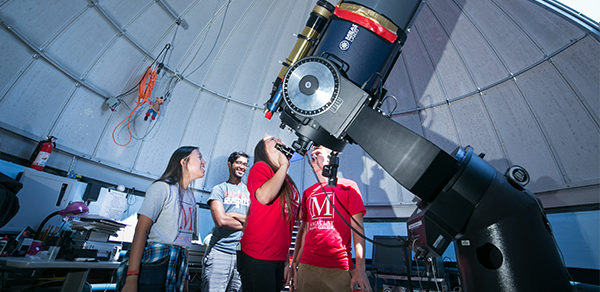Macaulay Students in Observatory