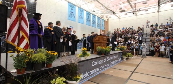 Ceremony In Gym For New Students