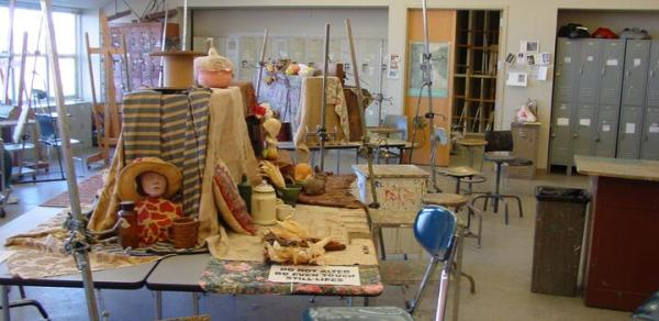 art studio in BFA in Art degree