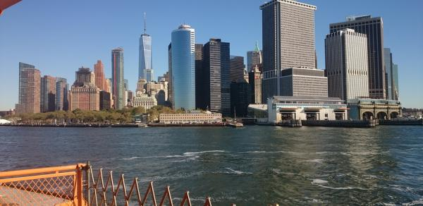 View of NYC from Staten Island ferry