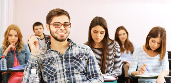 Students Sitting In A Lecture