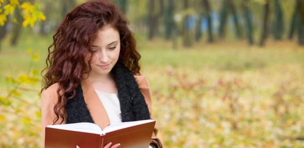 health wellness girl reading book image