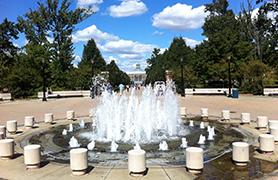 alumni walk fountain