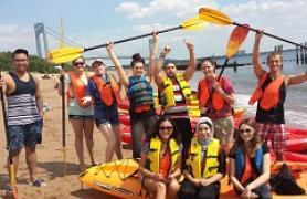 Verrazano Students Kayaking
