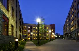Dormitory on CSI Campus at night
