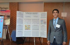 Student presenting project