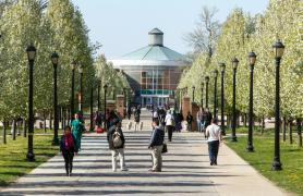 campus walk to library