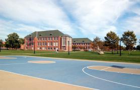 Basketball court on CSI campus