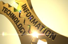information technology written in gold