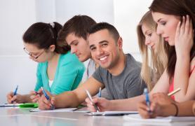 Students At Group Study